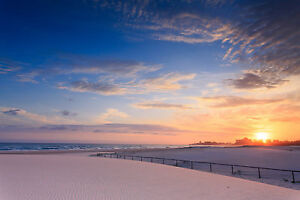 KIRRA COOLANGATTA Gold Coast beach surfers sunrise Australia  print photo art