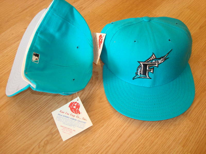 FLORIDA MARLINS rare 1992 diamond rare MARLINS  1990's HAT CAP VINTAGE FITTED SZ 7 b3f31f