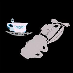 Stanzschablone-Kaffee-Tasse-Hochzeit-Weihnachts-Oster-Geburtstag-Karte-Album-DIY