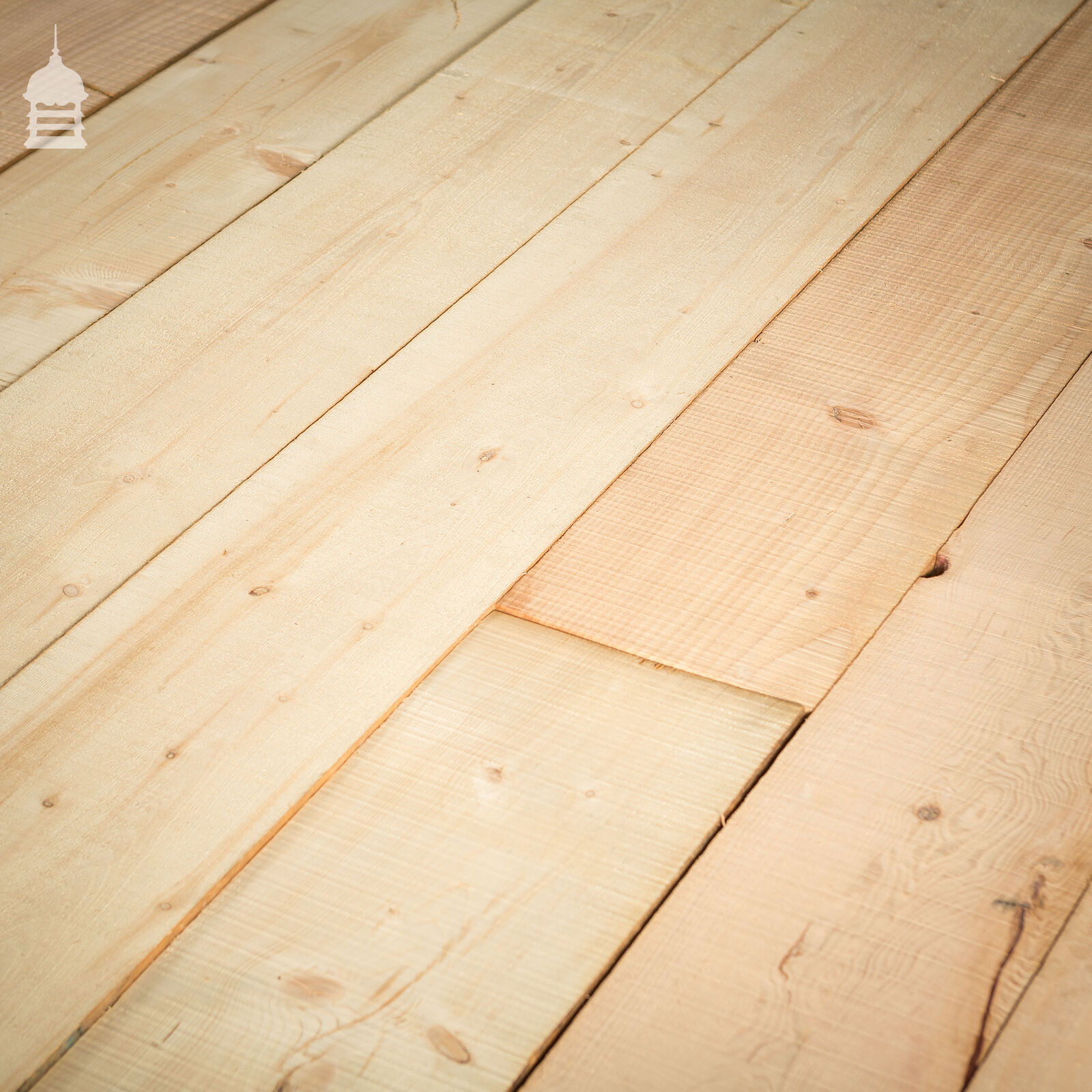 12 Square Metres of Wide Pine Floorboard Wall Cladding Cut from Reclaimed Joists