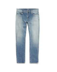 Saint-Laurent-D02-Washed-Blue-Denim-Jeans-size-30-BNWT-RRP-450