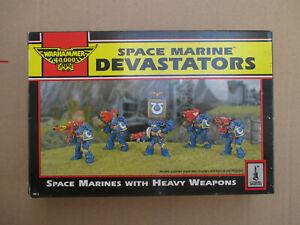 D11C34 SPACE MARINE DEVASTATOR WARHAMMER 40000 W40K (1992) USED OPENED
