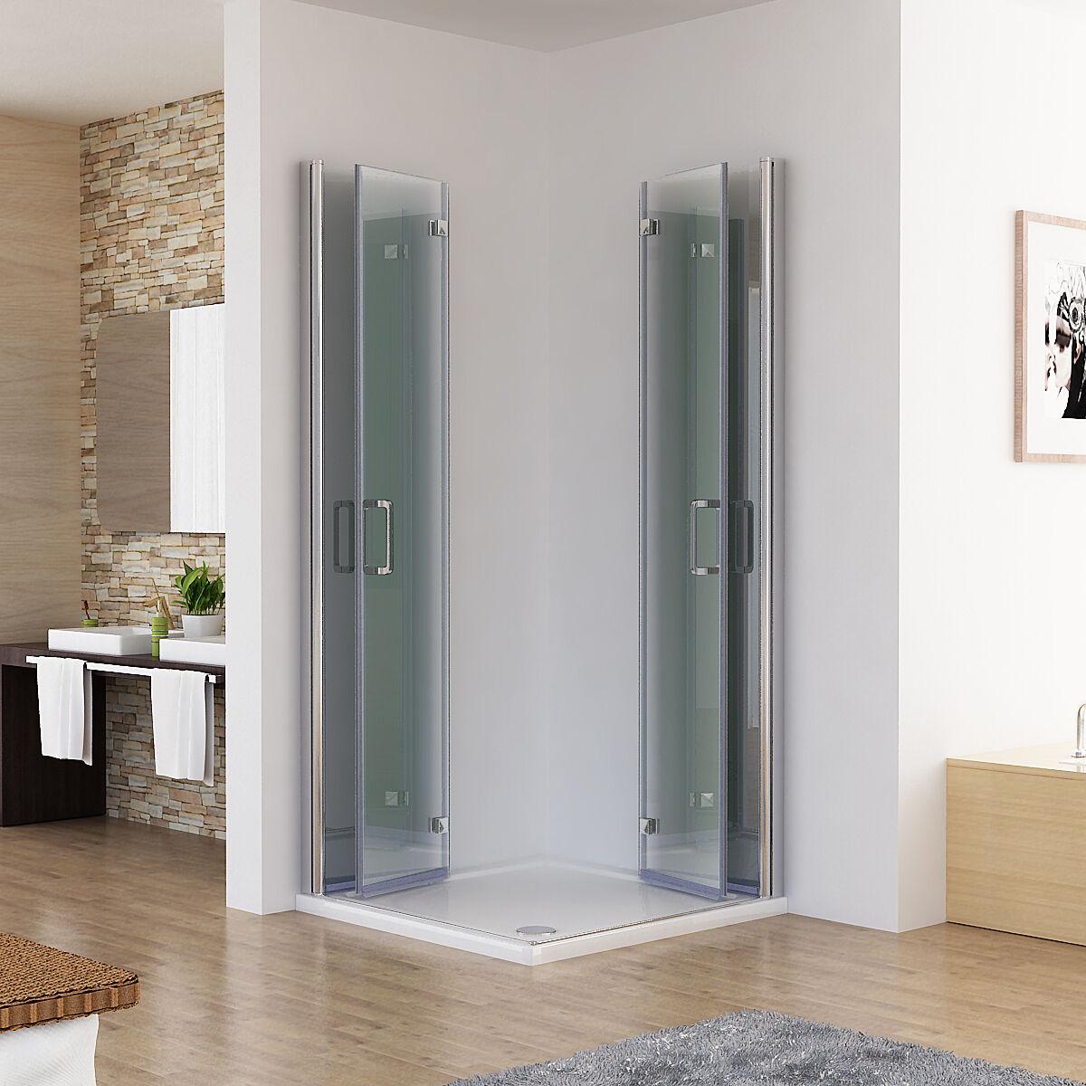 Falttür Dusche Kunststoff : duschkabine eckeinstieg dusche 180 faltt r duschwand duschabtrennung nano 185cm ebay ~ Frokenaadalensverden.com Haus und Dekorationen