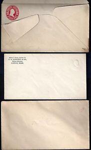 Ee. Uu. 1907 Tres Errors Postal Cubiertas Dos Con Relieve Albino Imagen & Uno