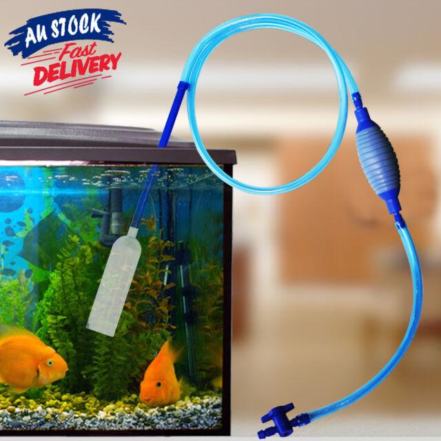 Water Change Aquarium Siphon Gravel Cleaner Clean Vacuum Fish Tank Pump Filter