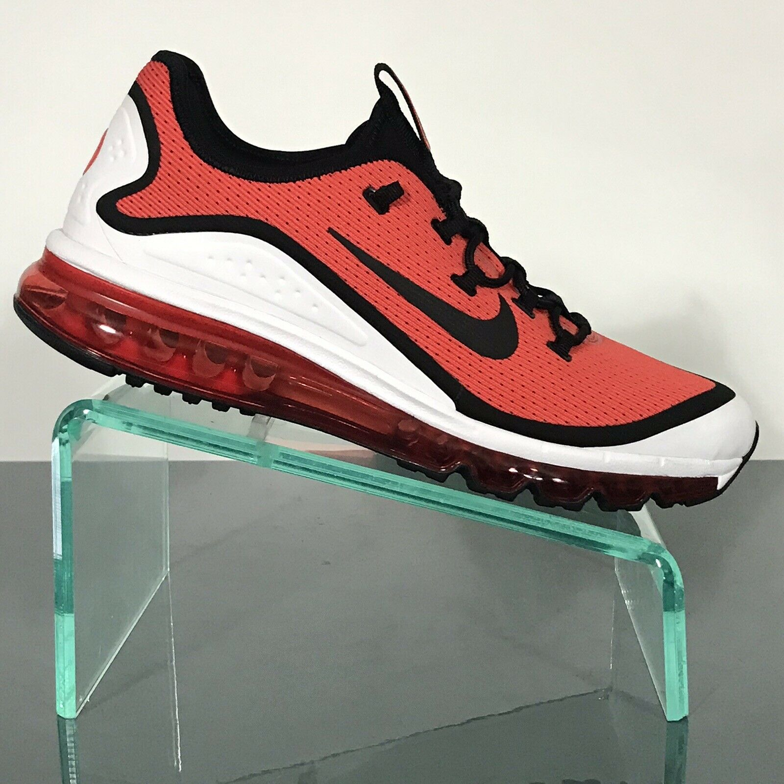NEW NIKE AIR MAX MORE Mens Size 10 Running shoes AR1944 600 Habablack Red Black