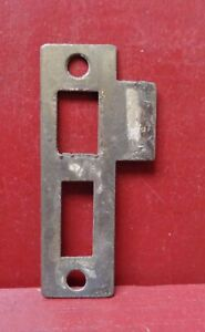 "1 VINTAGE REVERSIBLE MORTISE LOCK 3 1/4"" STRIKE PLATE #1"
