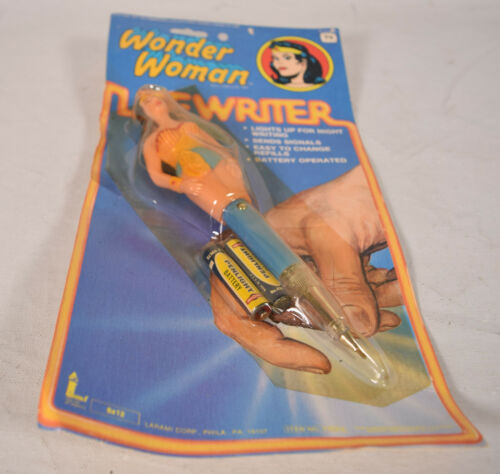 Wonder Woman Litewriter Lite Writer Light Pen DC TV Larami 1978 MOC