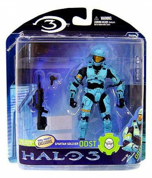 Halo 3 Series 2 Spartan Soldier Soldier Soldier ODST Exclusive Action Figure [Light bluee] f38e94