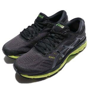 Asics-Gel-Kayano-24-Black-Green-Phantom-Men-Running-Shoes-Sneakers-T749N-9085
