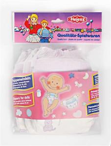3 pezzi Bambole pannolini con chiusura in velcro per tutti baby Bambole di 35-50cm Heless