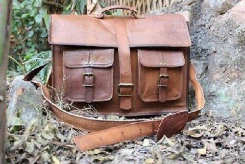 Laptop Messenger Schulter Aktenta Tasche Vintage Beste Männer Leder Echte Braun f00pXq