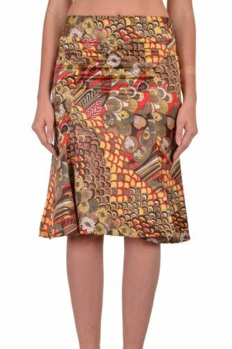 Just Cavalli Multi-Color Floral A-Line Women/'s Skirt US S IT 40