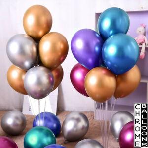 Latex-CHROME-Pearl-Ballons-Fete-D-039-Anniversaire-Evenement-decorations-metalliques