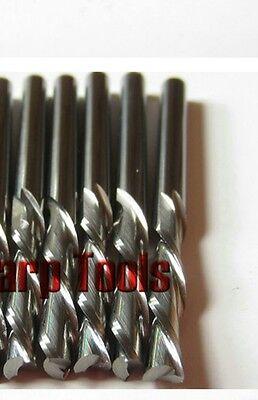 5pcs down cut double flute sprial left-handed CNC router bits 4mm 12mm