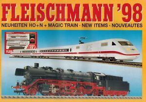 Treu Modellbaukatalog, Katalog, Modell Eisenbahn, H0, Tt, N, Fleischmann 1998 Gut Verkaufen Auf Der Ganzen Welt