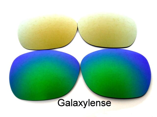 7d01a835c4 Galaxy Replacement Lenses For Oakley Garage Rock Sunglasses Gold Green