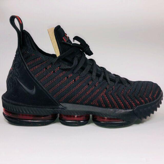 new arrivals aa741 c980f Nike Lebron XVI 16 Fresh Bred Black & University Red Sneakers AO2588-002  Size 10