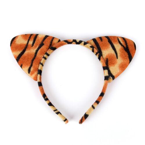 Mode Frauen Mädchen Plüsch Leopard Katze Ohr Stirnband Haarband Cosplay PaDWLM0