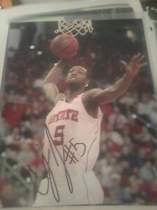 Details about C J  Leslie North Carolina NC State Wolfpack Basketball  Signed 8x10 Photo