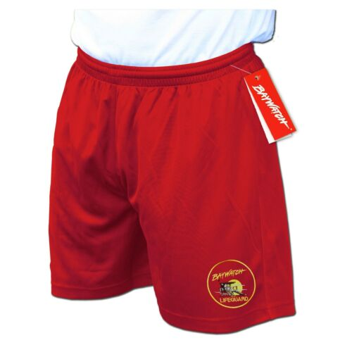 Con Licenza Baywatch ® REPLICA BAGNINO Rosso Sport Pantaloncini-Fancy Dress Party Nuovo