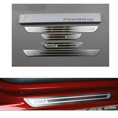 Stainless Steel Door Sill Scuff Plate for VW GOLF 6 GTI 09-14 GOLF MK4 1999-2005