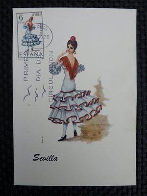 Maximumkarten Realistisch Spain Mk 1970 Costumes Spanien Trachten Maximumkarte Maximum Card Mc Cm A8678 HeißEr Verkauf 50-70% Rabatt