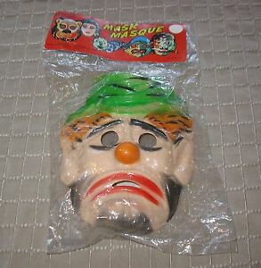 image is loading vintage montrose halloween or disguise clown mask hong