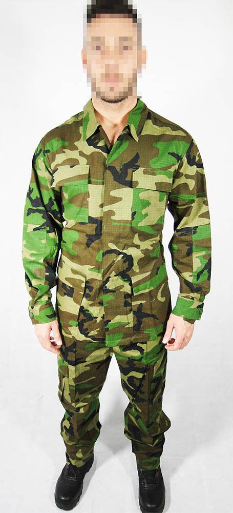 Uniforme uniforme Woodland 2 veste et pantalons 10 poches