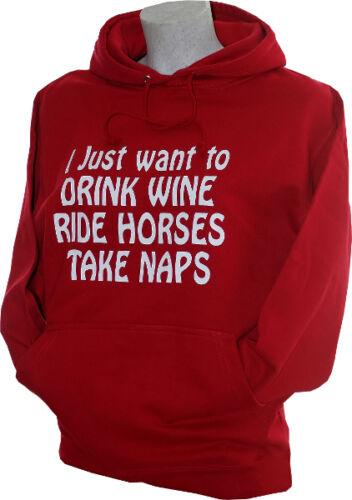 equestrian Drink wine Ride Horses  hoodie