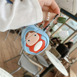 Cute 3d Japan Cartoon Anime Girl Ponyo Earphone Bag Cover For Apple Airpods Case Ebay