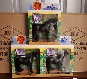 Julip-Horse-of-the-Year-HOTY-1006-Black-Diamond-Model-x3-Lot-New-Farm-Toy-Doll