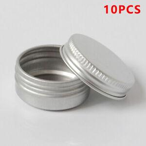 10pcs-Cosmetic-Empty-Jar-Pot-Cream-Lip-Balm-Bottle-Box-Container-Tin-Case