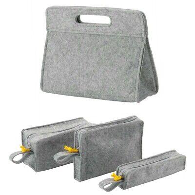 IKEA KNALLBÅGE Knallbage Bag Organiser Make Up Accessories Bag Insert Grey Felt | eBay