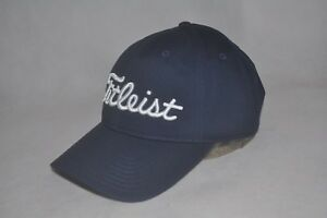 New Titleist Men s Curved Bill Golf Hat Navy Cotton Adjustable ... 570722d5c3b1