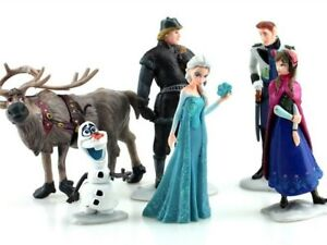 Frozen-Figurines-Set-of-6-Birthday-Cake-Toppers-Gift-Plastic-Toy-Doll-Decoration