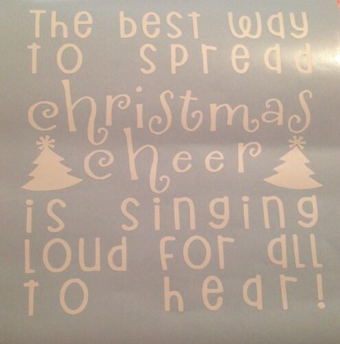 The Best Way To Spread Christmas Cheer Vinyl Box Frame Decal