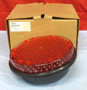 "PRECISION SOLAR 2942 *NEW* LED RED TRAFFIC SIGNAL 12"" 120VAC 9V 8.5W (2F5)"
