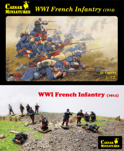 # 034 1914 Caesar Miniatures 1//72 WWI French Infantry