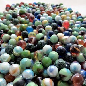 Glass Peewee Marbles 12MM Bulk Assorted Mega Lot Set of 50