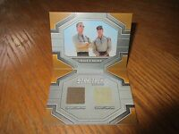 2017 Star Trek 50th Anniversary Tucker & Archer Dual Relic Book Card Drc4
