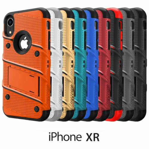 hot sale online 64375 fc832 Apple iPhone XR ZIZO Bolt Series Case with Tempered Glass Screen Protector