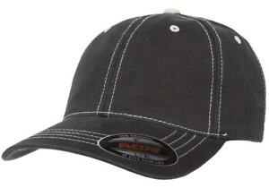 4b6aac39 Image is loading 6386-Flexfit-Contrast-Stitch-Dad-Hat-Garment-Washed-