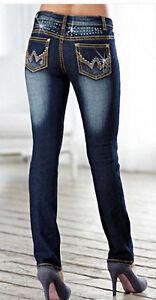 Skinny-Damenjeans-Gr-34-36-38-40-42-44-46-dark-blue-denim-Stretchjeans-Jeans-NEU