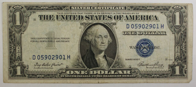 1935 One Dollar Silver Certificate Note Vg-vf Old US | eBay