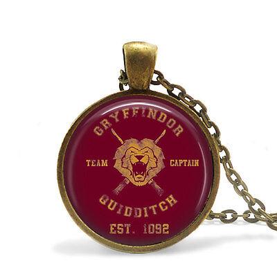 Harry Potter Gryffindor Quidditch Team Captain Bronze Pendant