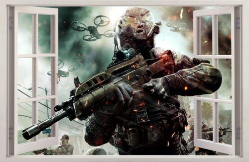 Autocollants Muraux effet 3D Fenêtre Call of Duty Autocollant Vinyle Counter Strike 69