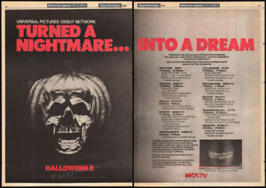 HALLOWEEN-II-Original-1985-Trade-print-AD-poster-TV-promo-JOHN-CARPENTER