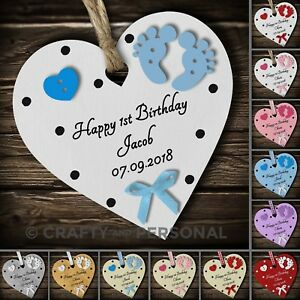 Image Is Loading Personalised Baby 039 S First 1st Birthday Gift