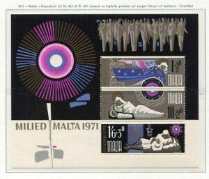 37580) Malta 1971 MNH Christmas S/S